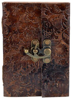 Craft Play Leather Flower Emboss Diary