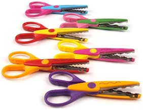Craft Scissor for cutting  - zig zag design - waves - different shapes - making greetings - school projects - scrapbook - Set of 6