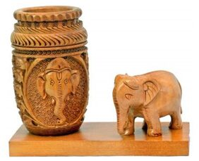 Craft Trade Ganesh Elephant Pen Stand
