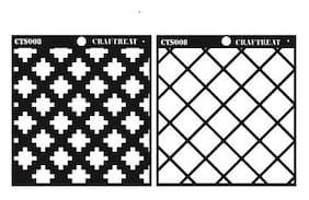 Craftreat 2 Step Criss Cross Stencil 6X6