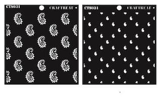 CrafTreat 2 Step Paisley Stencil 6X6