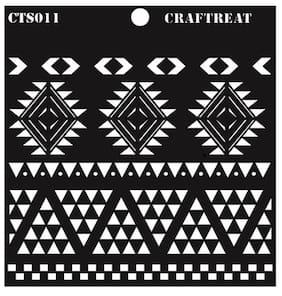 CrafTreat Aztec Borders Stencil 6X6