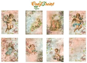 CrafTreat Decoupage A4 Paper - Angel Set 8 Sheets /Pkg