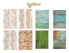 CrafTreat Decoupage A4 Paper - Wood Background 8 Sheets/Pkg