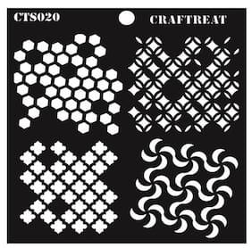 CrafTreat Distressed Patterns Stencil 6X6