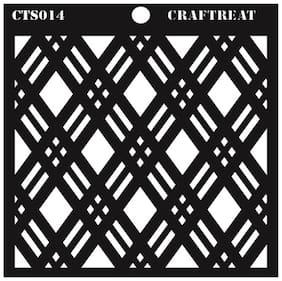 CrafTreat Double Diamond Stencil 6X6