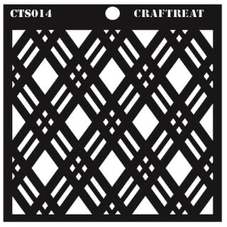 CrafTreat Double Diamond Stencil 6X6