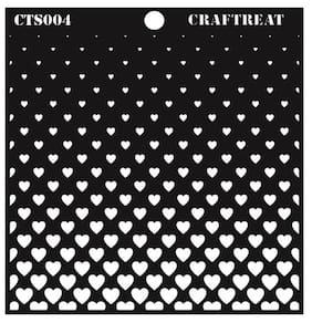Craftreat Flying Hearts Stencil 6X6