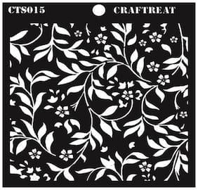 CrafTreat Flourish Background Stencil 6X6
