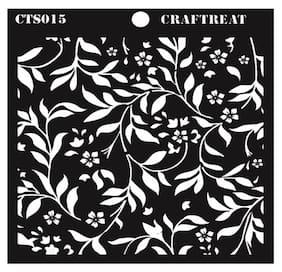 CrafTreat Flourish Background Stencil 6X6