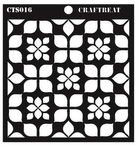 CrafTreat Hydrangea Petals Stencil 6X6