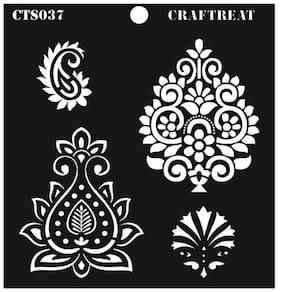 CrafTreat Indian Motifs Stencil 6X6