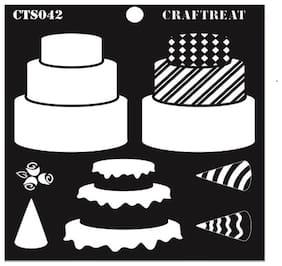 "CrafTreat Layered Stencil - 3 Tier Cake 6""X6"""
