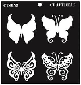 "CrafTreat Layered Stencil - Butterflies 6""X6"""
