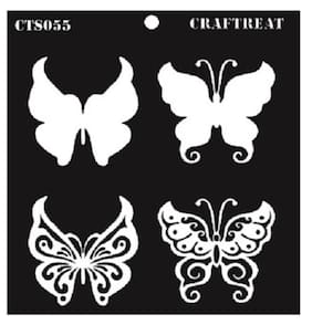 "CrafTreat Layered Stencil - Butterflies 6""X6"""
