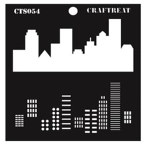 "CrafTreat Layered Stencil - City Scape 6""X6"""