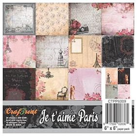 CrafTreat Paper Pack - Je t'aime 6x6