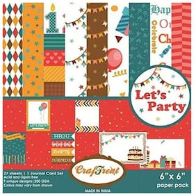CrafTreat Paper Pack - Lets Party 6x6