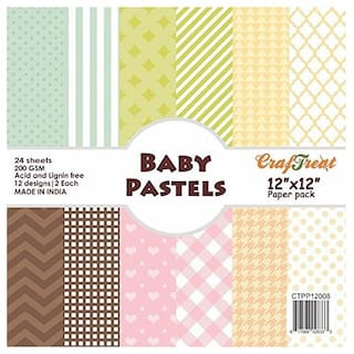 CrafTreat Paper Pack - Baby Pastels 12x12