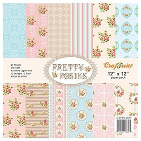 CrafTreat Paper Pack - Pretty Posies 12x12