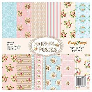 CrafTreat Paper Pack - Pretty Posies 12x12