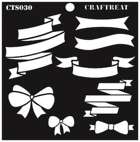 CrafTreat Ribbon Banners Stencil 6X6