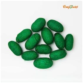 CrafTreat Silk Cocoon - Green 24pcs
