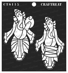 CrafTreat Stencil - Musical Ganesha (2) 6X6