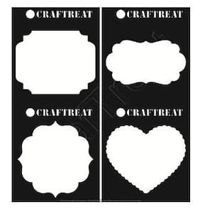CrafTreat Stencil Frames & Masks 6X6