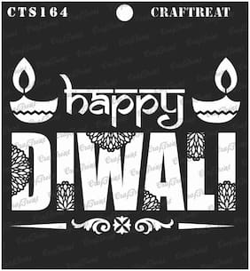 CrafTreat Stencil - Happy Diwali