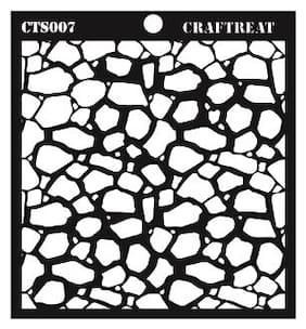CrafTreat Stone Background Stencil 6X6