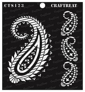 CrafTreat Stencil - Paisley and border 6X6