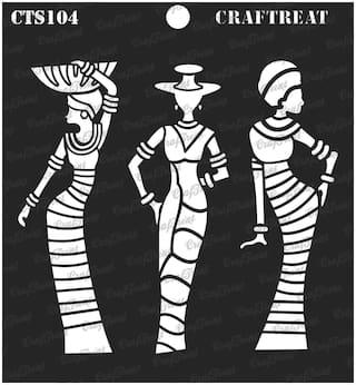"Craftreat Stencil - African Models 6"" X 6"""