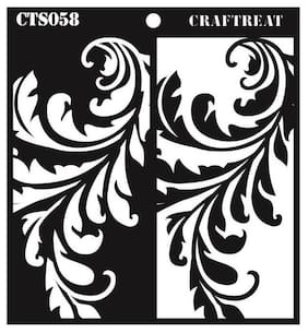 "CrafTreat Stencil - Flourish Positive Negative 6""X6"""