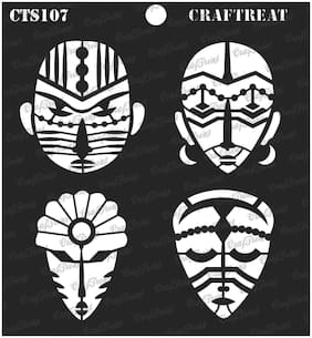 "Craftreat Stencil - Congo Mask 6"" X 6"""