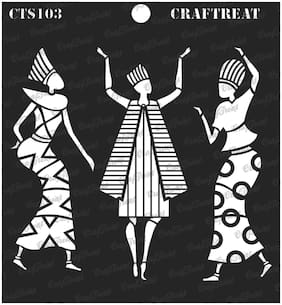 "Craftreat Stencil - Egyptians 6"" X 6"""