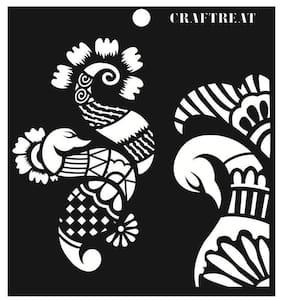 """CrafTreat Stencil - Henna 6""""X6"""""""