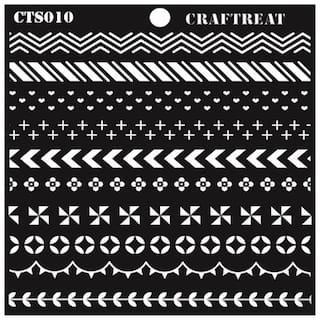 CrafTreat Washi Tape Stencil 6X6