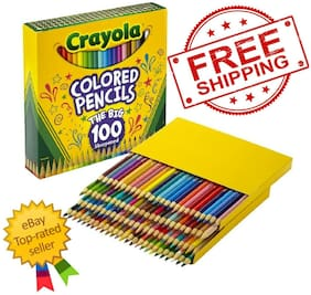 Crayola Colored Pencils, Assorted Colors, Set of 100 - FREE SHIPPING