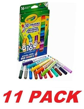 Crayola Washable Pip Squeaks Markers for Drawing and Painting (11 PACKS of 16)