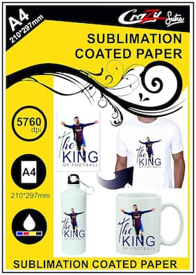 Crazy Sutra Matte Coated Dye Sublimation Sipper Printing A4 Paper (20pc)