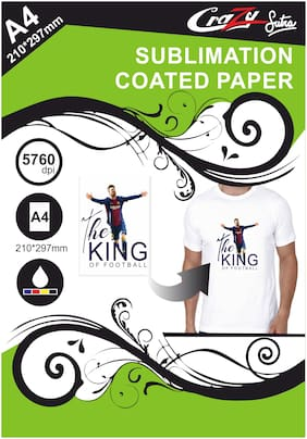 Crazy Sutra Matte Coated Dye Sublimation T-Shirt Printing A4 Paper (50pc) [Paper_SubPaper50Pc]
