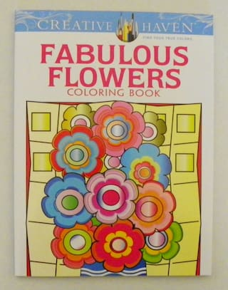 Creative Haven Adult Teen Coloring Book Flowers - you choose