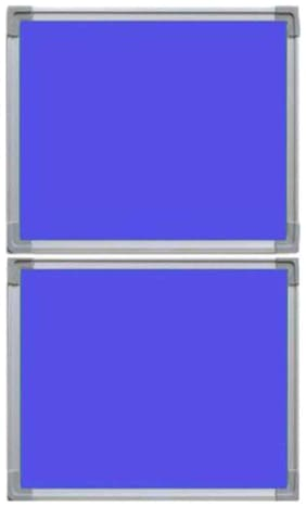 Crete Blue 1.5 x 1.5 Feet Set of 2 Bulletin Board,Notice Board,Pin Board