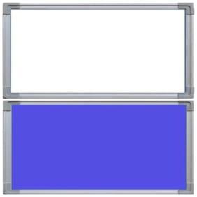Crete Blue & White 1.5 x 1 Feet ,Bulletin Board,Notice Board,Pin Board,White Board,Set of 2