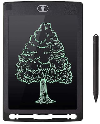 """Crystal Digital  Portable 8.5"""" Re-Writable Red LCD E-Pad, Paperless E-Writer with Stylus,  (Black)"""