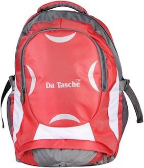 Da Tasche 35 L Backpack & School bag - Red & Grey