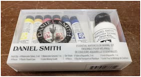 Daniel Smith ESSENTIAL WATERCOLOR MIXING SET 9pcs 6 Tubes, 1 Ground, Case, Guide