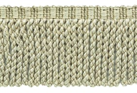"Dark Sand Beige, Cream, Off White 3"" Bullion Fringe with Woven Header [5 Yards]"