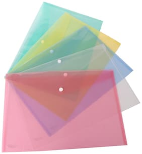 DataKing My Clear Bag With Line Embossing, Set Of 12, Color: Multi, Size: FC.